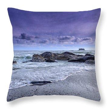 Rialto Beach Drama Throw Pillow
