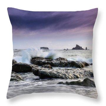 Rialto Beach Rocks Throw Pillow