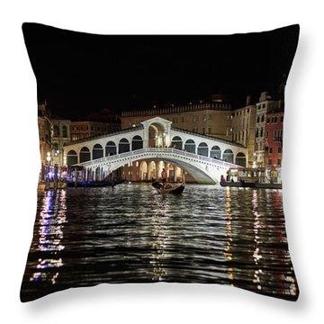 Rialto Night - 4284 Throw Pillow