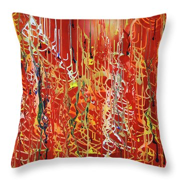 Rib Cage Throw Pillow by Ralph White