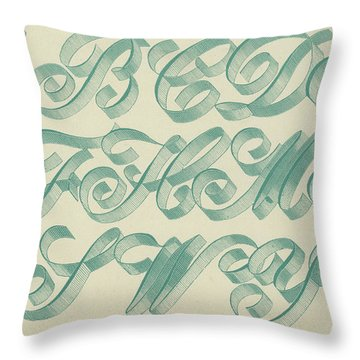 Riband Letter Throw Pillow