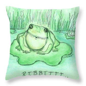Ribbittt.... Throw Pillow