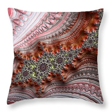 Ribbon Candy Crystals Throw Pillow