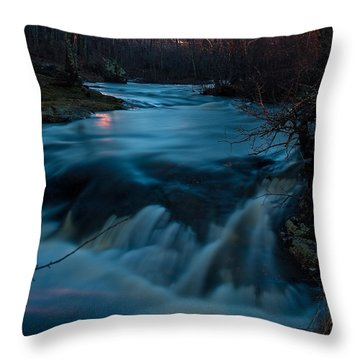 Ribbon Of Life Throw Pillow by Greg DeBeck