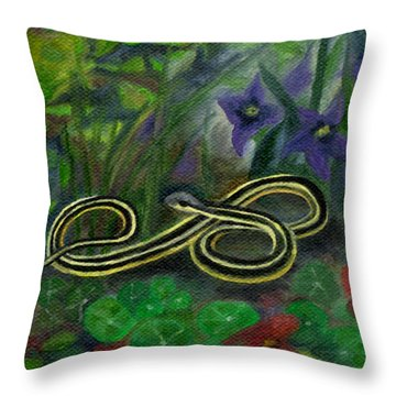Ribbon Snake Throw Pillow