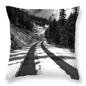 Ribbon To The Unknown Monochrome Art By Kaylyn Franks Throw Pillow