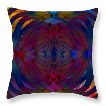 Ribboning Throw Pillow by Constance Krejci