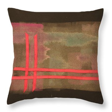 Throw Pillow featuring the mixed media Ribbons by Erika Chamberlin