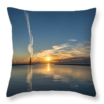 Ribbons In The Sky Throw Pillow
