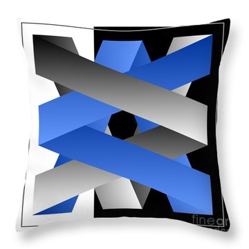Throw Pillow featuring the digital art Ribbons by Leo Symon