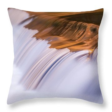 Ribbons Of Blue And Gold Throw Pillow