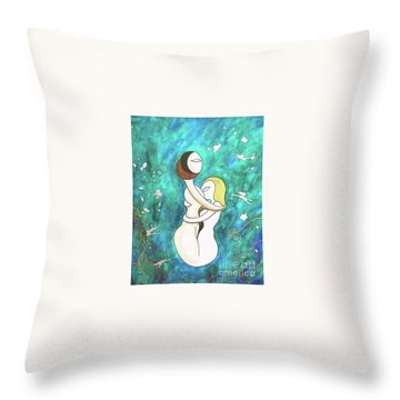 Ribbons Of Grass Throw Pillow