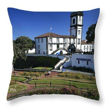 Ribeira Grande Azores Throw Pillow by Gaspar Avila