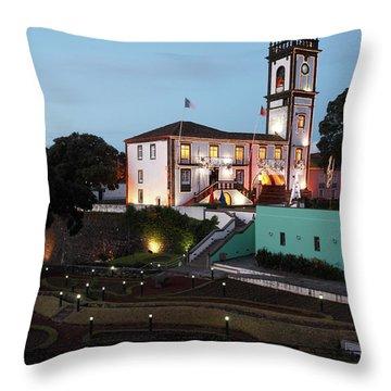Ribeira Grande Town Hall Throw Pillow by Gaspar Avila