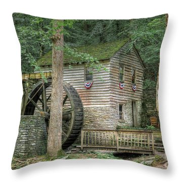 Throw Pillow featuring the photograph Rice Grist Mill 2017 by Douglas Stucky