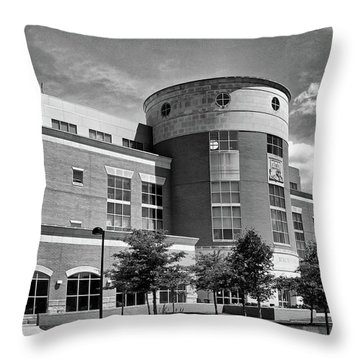 Rice Library B W Throw Pillow
