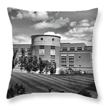 Rice Library II B W Throw Pillow