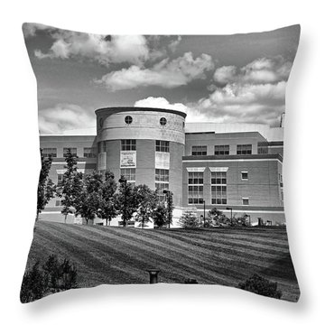 Rice Library II B W Throw Pillow