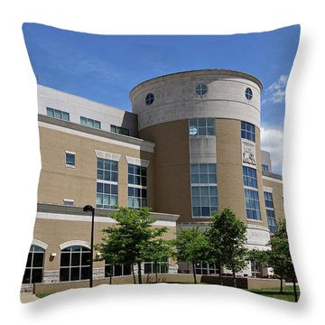 Rice Library Throw Pillow