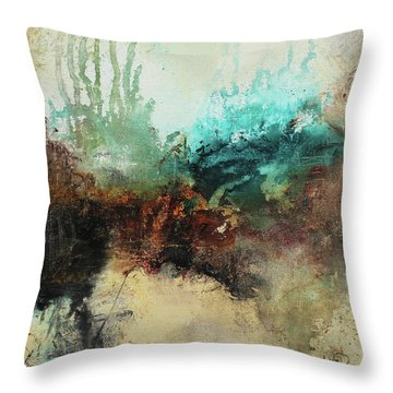 Rich Earth Tones Abstract Not For The Faint Of Heart Throw Pillow