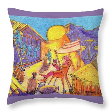 Rich Fool Parable Painting By Bertram Poole Throw Pillow