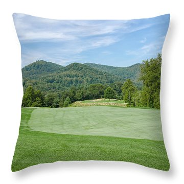 Lush Green  Throw Pillow