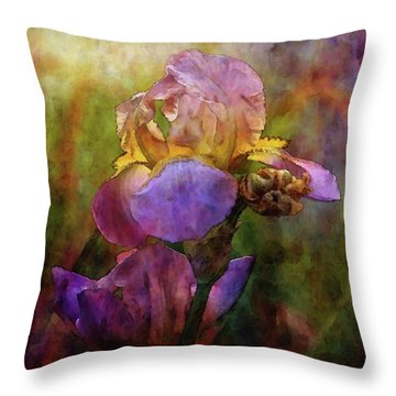 Rich Purple Irises 0056 Idp_22 Throw Pillow