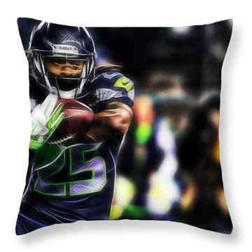 Richard Sherman Collection Throw Pillow by Marvin Blaine