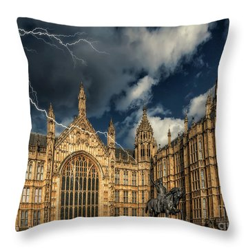 Throw Pillow featuring the photograph Richard The Lionheart by Adrian Evans