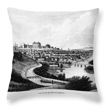 Richmond, Virginia, 1856 Throw Pillow by Granger