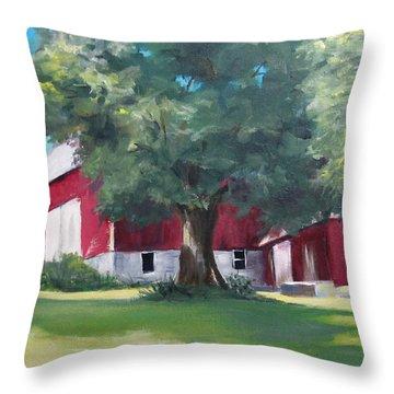 Rich's Barn Throw Pillow