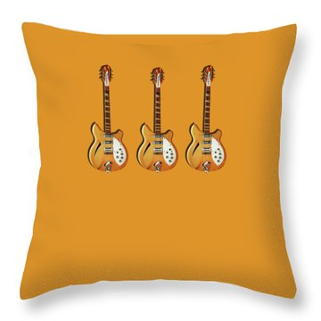 Rickenbacker 360 12 1964 Throw Pillow