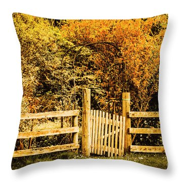 Rickety Countryside Throw Pillow