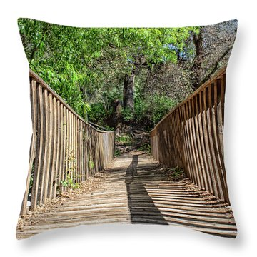Rickety Old Bridge Throw Pillow