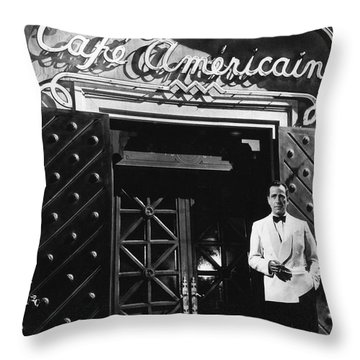 Ricks Cafe Americain Casablanca 1942 Throw Pillow