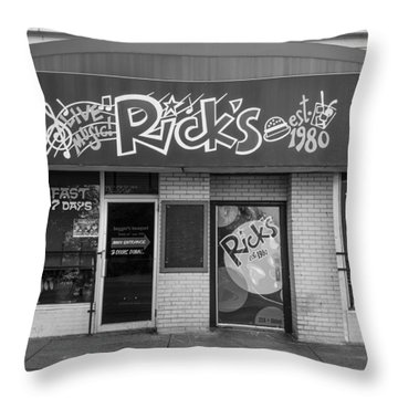 Rick's Cafe East Lansing  Throw Pillow