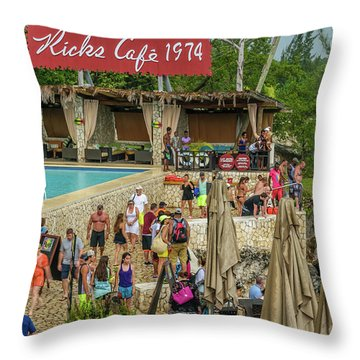 Rick's Cafe In Negril, Jamaica Throw Pillow