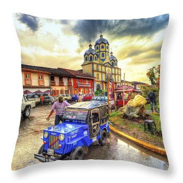 La Plaza Throw Pillow