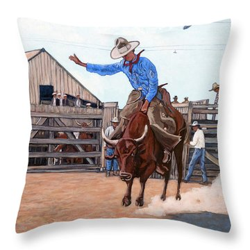 Ride 'em Cowboy Throw Pillow