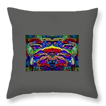 Ride Of The Slug Fairy Throw Pillow