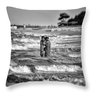 Ride The Waves Throw Pillow
