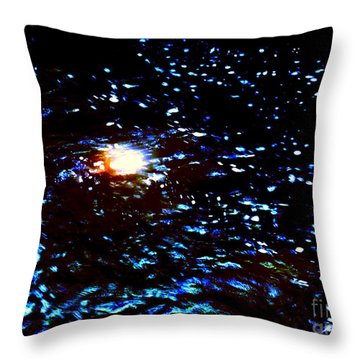 Ride Through Cosmos Throw Pillow