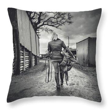 Ride Time Throw Pillow
