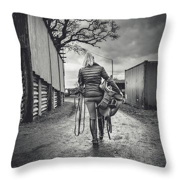Ride Time Throw Pillow