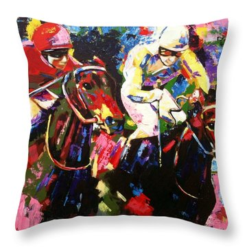 Ride To Glory Throw Pillow