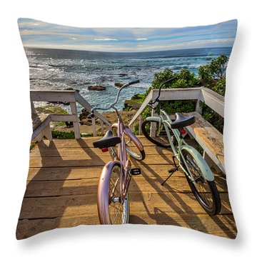 Ride With Me To The Beach Throw Pillow