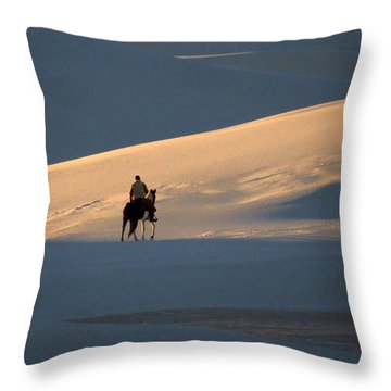 Rider In The Sand #5 Throw Pillow