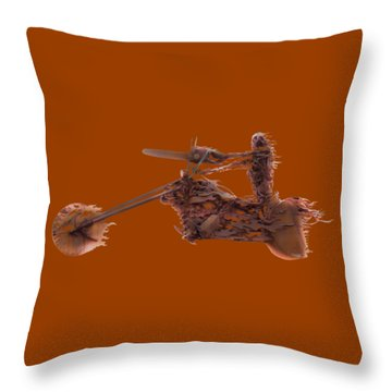 Throw Pillow featuring the mixed media Rider In The Sky by Shane Bechler