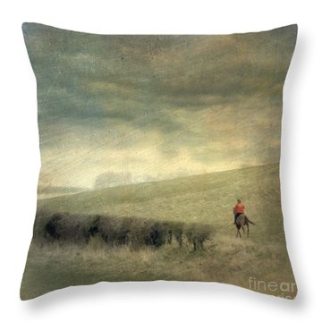 Rider In The Storm Throw Pillow