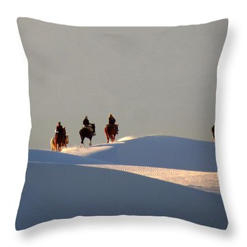 Riders In The Sand #2 Throw Pillow